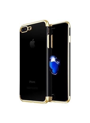 Microsonic iPhone 8 Plus Kılıf Skyfall Transparent Clear  Altın